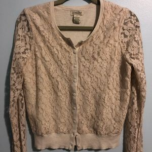 Lucky Brand Lace Cardigan